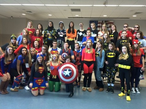 Day two of powderpuff spirit week: superheroes